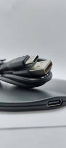 Incarcator rapid ultraslim wireless Optimus AT 61 15W Qi (inductie), type-C, negru [5]