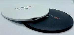 Incarcator rapid ultraslim wireless Optimus AT 61 15W Qi (inductie), type-C, negru [8]