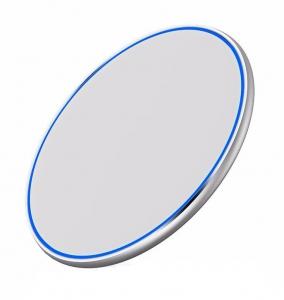 Incarcator rapid ultraslim wireless Optimus AT BC09 10W Qi (inductie), white silver [0]