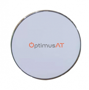 Incarcator rapid ultraslim wireless Optimus AT BC09 10W Qi (inductie), white silver [1]