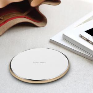 Incarcator rapid ultraslim wireless Optimus AT BC09 10W Qi (inductie), white gold [1]