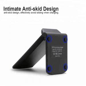 Incarcator rapid wireless tip stand 2 bobine Optimus AT BC11 fast 10 W Qi negru [2]