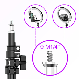 Kit starter vlogging premium - suport telefon + lampa circulara fotografica inaltime 2,1 metri [3]
