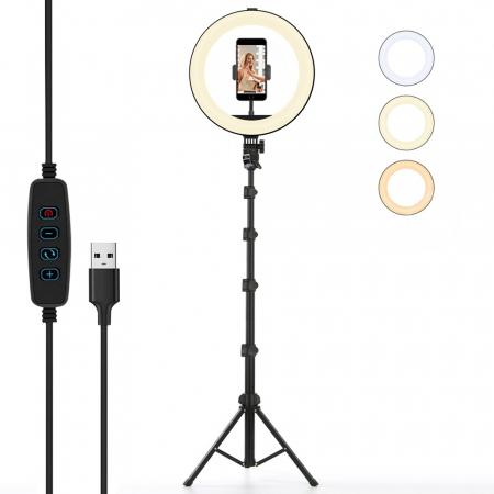 Set selfie ring 10 inch, trepied telescopic 160cm, suport telefon [0]