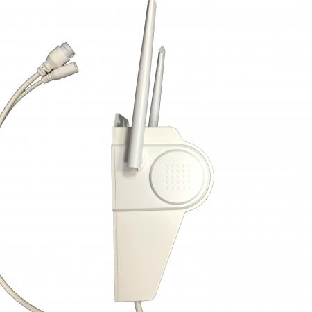 Lampa de perete cu camera de supraveghere IP WIFI Optimus AT D2-R fullHD 1920*1080P 2 mp, night vision, aplicatie telefon, alb [7]