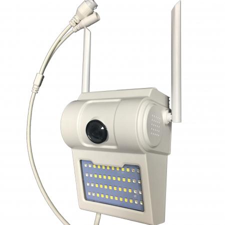 Lampa de perete cu camera de supraveghere IP WIFI Optimus AT D2-R fullHD 1920*1080P 2 mp, night vision, aplicatie telefon, alb [0]