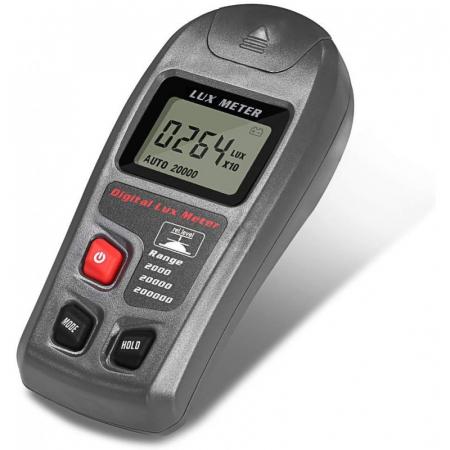 Luxmetru Optimus AT MT-30 multifunctional 200.000 LX, 2 masuratori/s memorii, temperatura, afisaj luminat, acuratete 3-4% [0]