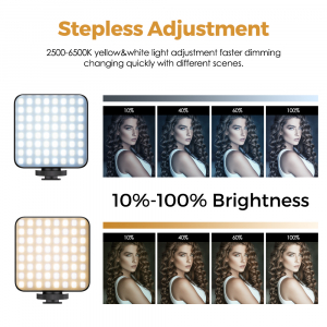 Lampa LED cu acumulator 2000 mAh, lumina calda/rece 2500-6500K, FL03 [4]