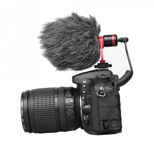 Microfon profesional, ultraportabil, directional, cu atenuator zgomotor de fundal, prindere tip 1/4 [3]