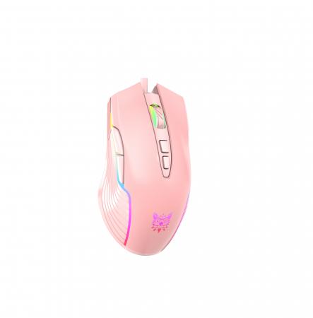 Mouse Gaming Onikuma CW905, RGB, 6400 DPI - roz [2]