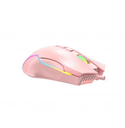 Mouse Gaming Onikuma CW905, RGB, 6400 DPI - roz [0]