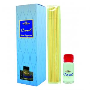 Odorizant cu betisoare de ratan, Kingaroma, Cool, 50ml + inca o rezerva de 50 ml CADOU [2]