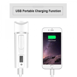 Pulverizator cu senzori si nano particule pentru hidratarea tenului Optimus AT Skin™ 002, incarcare USB, abur rece [2]