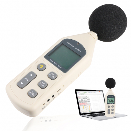Sonometru profesional Optimus AT 1356, aparat de masurare a decibelilor [2]