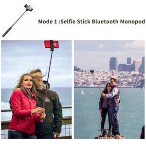Selfie stick premium cu brat extensibil, telecomanda si trepied, negru, D3 [3]