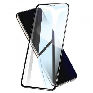 Folie protectie ecran 5D de sticla duritate 9H, antiamprenta pentru Iphone XR [0]