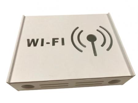 Suport Router Wireless WIFI 36x28x9 cm, alb, pentru mascare fire si echipament Wi-Fi, cu posibilitate montare pe perete Optimus AT Home [2]