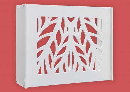 Suport Router Wireless Leaves 36x28x9 cm, alb, pentru mascare fire si echipament Wi-Fi, cu posibilitate montare pe perete Optimus AT Home [0]