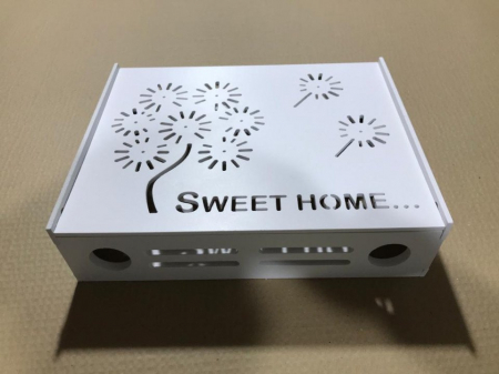 Suport Router Wireless Home 60x40x10 cm, alb, pentru mascare fire si echipament WI-FI, posibilitate montare pe perete [4]