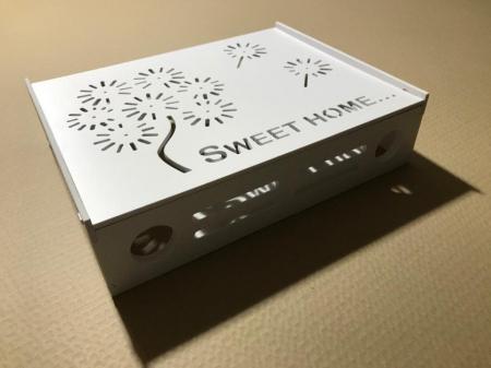 Suport Router Wireless Home 60x40x10 cm, alb, pentru mascare fire si echipament WI-FI, posibilitate montare pe perete [5]