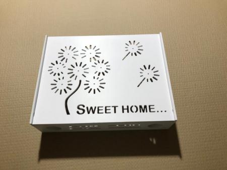 Suport Router Wireless Home 60x40x10 cm, alb, pentru mascare fire si echipament WI-FI, posibilitate montare pe perete [3]