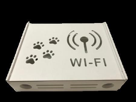 Suport Router Wireless Cat 36x28x9 cm, alb, pentru mascare fire si echipament Wi-Fi, cu posibilitate montare pe perete Optimus AT Home [2]
