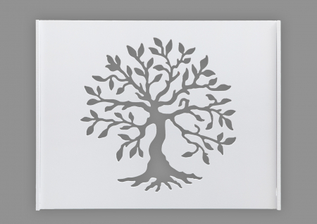 Suport Router Wireless Tree 60x40x10 cm, alb, pentru mascare fire si echipament Wi-Fi, cu posibilitate montare pe perete Optimus AT Home [1]