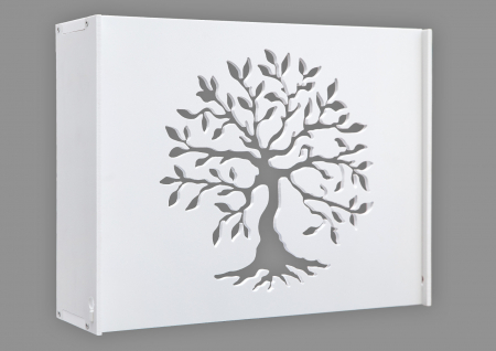 Suport Router Wireless Tree 60x40x10 cm, alb, pentru mascare fire si echipament Wi-Fi, cu posibilitate montare pe perete Optimus AT Home [0]