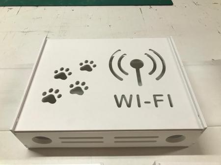 Suport Router Wireless Cat 60x40x10 cm, alb, pentru mascare fire si echipament Wi-Fi, cu posibilitate montare pe perete Optimus AT Home [3]