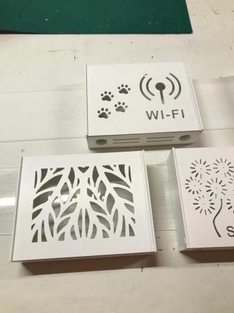 Suport Router Wireless Cat 60x40x10 cm, alb, pentru mascare fire si echipament Wi-Fi, cu posibilitate montare pe perete Optimus AT Home [4]