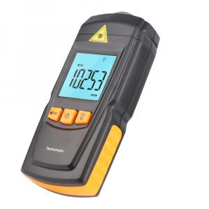 Tahometru digital fara contact Optimus AT 8900, masurare viteza rotatie pe minut RPM, negru [0]