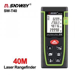 Telemetru profesional SNDWAY T40 functii multiple, 5 cm-40 m, distanta, aria, volum, pitagora, nivela, 30 memorii,  toleranta 2mm [4]