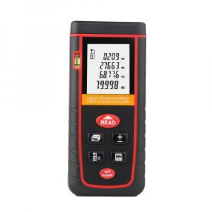 Telemetru profesional Optimus AT W80 functii multiple, 5 cm-80 m, distanta, aria, volum, pitagora, boloboc, 30 memorii,  toleranta 2mm [0]