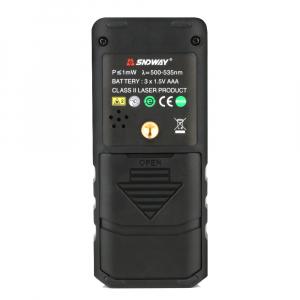 Telemetru profesional SNDWAY SW-50G functii multiple, 5 cm-50 m, distanta, aria, volum, pitagora, nivela, 30 memorii,  toleranta 2mm [1]