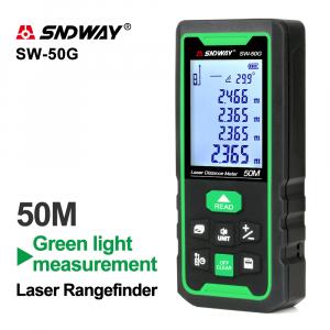 Telemetru profesional SNDWAY SW-50G functii multiple, 5 cm-50 m, distanta, aria, volum, pitagora, nivela, 30 memorii,  toleranta 2mm [3]