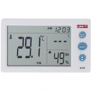 Termohigrometru digital A12T UNI-T, alarma, ceas, statie meteo [0]