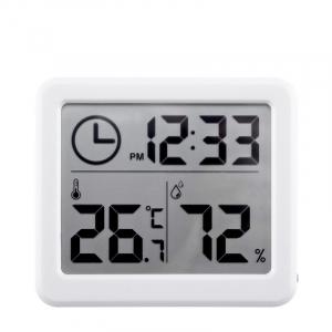 Termometru higrometru digital de casa cu ceas, termohigrometru [0]