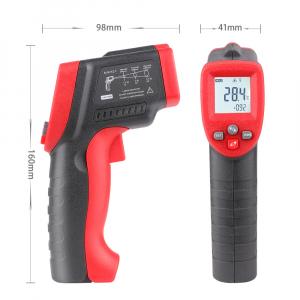 Termometru industrial Optimus AT 300 interval -50 +420°C cu afisaj luminat, gri rosu [1]