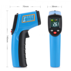 Termometru industrial Optimus AT 400 interval -50 +400°C cu afisaj color luminat, albastru [1]