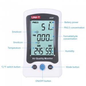 Tester calitate aer - particule PM25, Formaldehida (H2CO), termometru - Uni-T A25F [2]