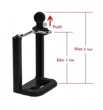Trepied aluminiu inaltime 350 mm - 1020 mm, boloboc prindere 1/4, pentru telefon/unelte, 420 gr, max 1 kg, 3110 [6]