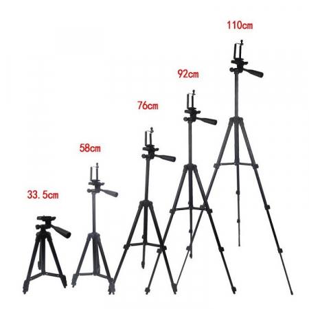Trepied aluminiu inaltime 350 mm - 1020 mm, boloboc, prindere 1/4, pentru telefon/unelte, 420 gr, max 1 kg, 3120 [4]