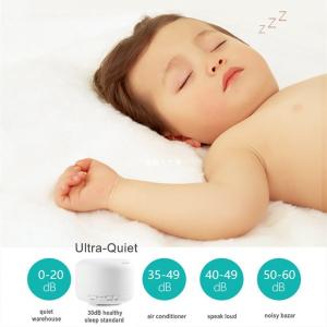 Umidificator Aromaterapie Lampa de veghe cu telecomanda Optimus AT Home™ 1552 rezervor 500ml, cu ultrasunete, 25-30m², purificator aer, lemn deschis [1]