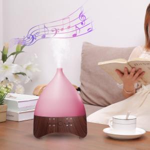 Umidificator Aromaterapie Lampa de veghe white noise Optimus AT Home™ 2028 rezervor 300ml, cu ultrasunete, 25-30m², purificator aer, dark wood [3]