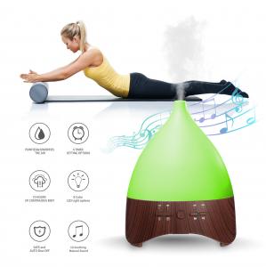 Umidificator Aromaterapie Lampa de veghe cu telecomanda Optimus AT Home™ 2028 rezervor 300ml, cu ultrasunete, 25-30m², purificator aer, dark wood [2]