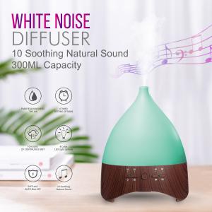 Umidificator Aromaterapie Lampa de veghe white noise Optimus AT Home™ 2028 rezervor 300ml, cu ultrasunete, 25-30m², purificator aer, dark wood [0]