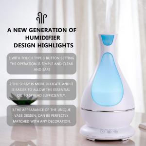 Umidificator Aromaterapie Lampa de veghe Optimus AT Home™ 1818 cu ultrasunete, 25m², purificator aer, difuzor, rezervor 400ml, white [6]
