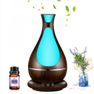 Umidificator Aromaterapie Lampa de veghe Optimus AT Home™ 1818 cu ultrasunete, , 25m², purificator aer, difuzor, rezervor 400ml, dark wood [1]