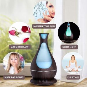 Umidificator Aromaterapie Lampa de veghe Optimus AT Home™ 1818 cu ultrasunete, , 25m², purificator aer, difuzor, rezervor 400ml, dark wood [4]