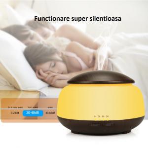 Umidificator Aromaterapie Lampa de veghe Optimus AT Home™ 1850 rezervor 300ml, ultrasunete, 20-30m², purificator aer, difuzor, dark wood [2]